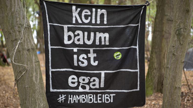 Polizei räumt Protestcamp von Braunkohlegegnern am Hambacher Forst
