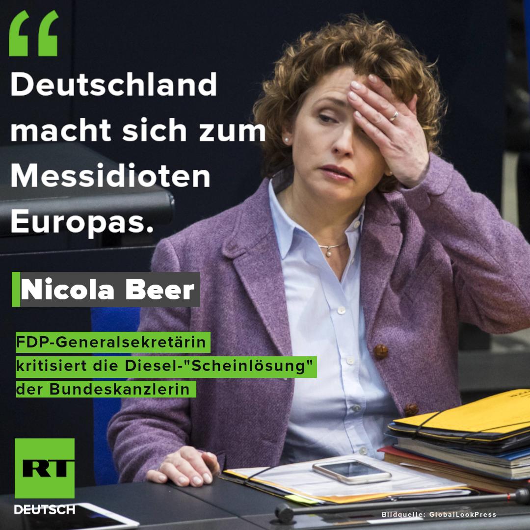 Umfrage: Große Unzufriedenheit mit Merkels Diesel-Kurs