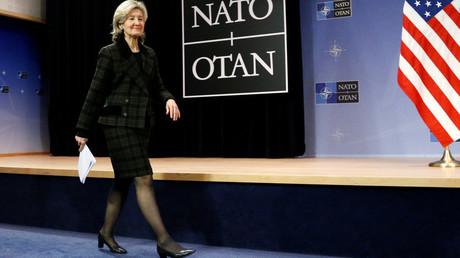 Die Nato-Gesandte der USA, Kay Bailey Hutchison.