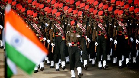 Parade der indischen Armee.