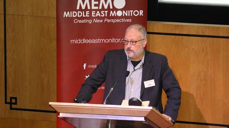 Der saudische Exil-Journalist  Dschamal Chaschukdschi sprach am 29. September 2018 auf einer Veranstaltung von Middle East Monitor in London. Seit Dienstag vergangener Woche ist er spurlos verschwunden.