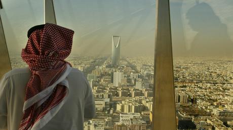 Blick auf das Zentrum von Riad, Saudi-Arabien, 14. Dezember 2003.