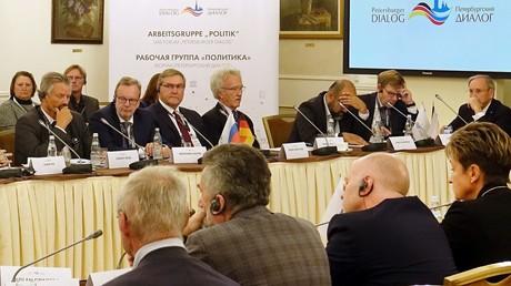Gegenseitige Vorwürfe in politischen Fragen: In der Sitzung der Arbeitsgruppe Politik herrschte beim diesjährigen Forum des Petersburger Dialoges in Moskau angespannte Atmosphäre.