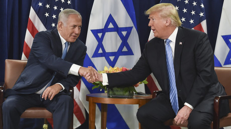 Einen Tag vor seiner Rede vor der UN-Vollversammlung traf sich der israelische Ministerpräsident Benjamin Netanjahu mit US-Präsident Donald Trump am 26. September in New York.