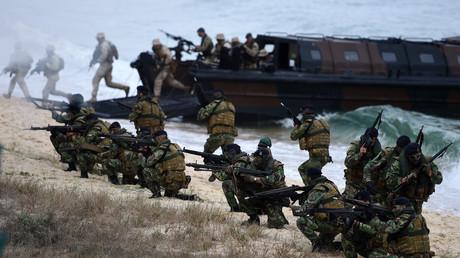 Ein Bild von dem NATO-Manöver