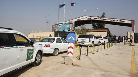 Jordanische Seite des Nassib-Grenzübergangs nach Syrien.
