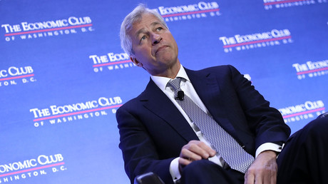 Jamie Dimon, CEO von JPMorgan, spricht im Economic Club of Washington am 12. September 2016 in Washington.