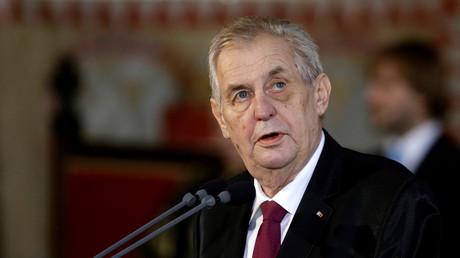 Der tschechische Präsident Miloš Zeman bei einer Veranstaltung am 8. März 2018 in Prag