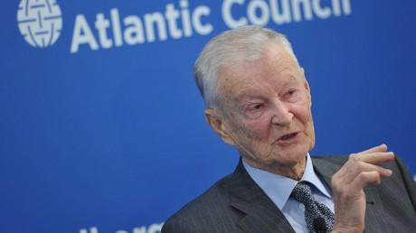 Zbigniew Brzezinski, ehemaliger US-Sicherheitsberater, spricht auf der Konferenz