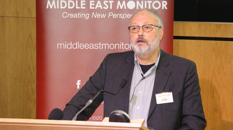 Der saudische Journalist Dschamal Chaschukdschi während einer Veranstaltung von Middle East Monitor in London Großbritannien am 29. September 2018