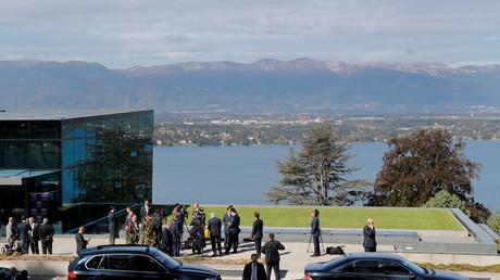 Die Zentrale des WEF am Genfersee