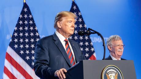US-Präsident Donald Trump und der Sicherheitsberater des Weißen Hauses John Bolton