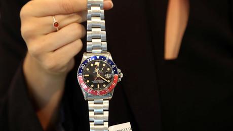 Symbolbild: Seltene Rolex-Armbanduhr im Auktionshaus von Christie's in Dubai, Vereinigte Arabische Emirate, 19. März 2018.