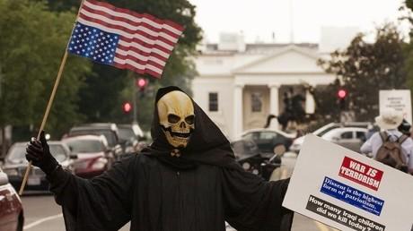 Protest gegen den Irak-Krieg in Washington, D.C., 2006.