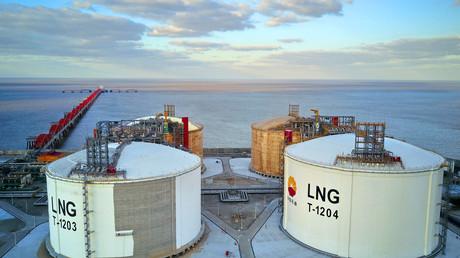 Bislang gibt es in Deutschland kein LNG-Terminal. Auf dem Bild: das größte chinesische LNG-Terminal Nantong, November 2017.