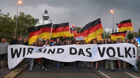 Pro-Chemnitz-Demonstration, Chemnitz, Deutschland, 7. September 2018.