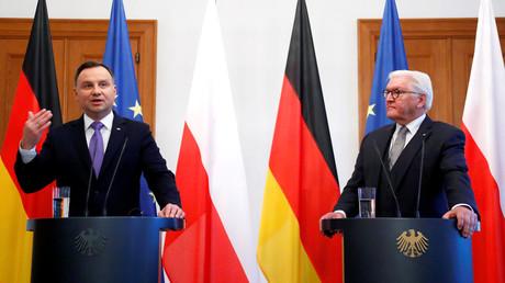 Der polnische Präsident Andrzej Duda und Frank-Walter Steinmeier, Berlin, Deutschland, 23. Oktober 2018.