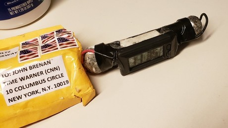Briefbombe, die an John Brennan adressiert war, 24. Oktober 2018.