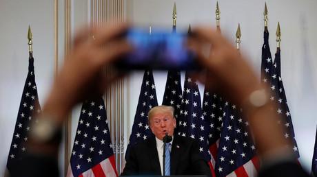 Pressekonferenz bei der UN-Generalvollversammlung, New York, USA, 26. September 2018.