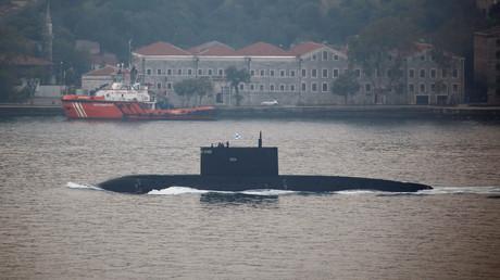 Symbolbild: Russisches Kilo-U-Boot Krasnodar, Istanbul, Türkei, 7. August 2017.