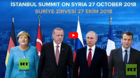 LIVE: Macron, Merkel und Putin treffen sich mit Erdoğan in Istanbul zu Syrien-Quartett