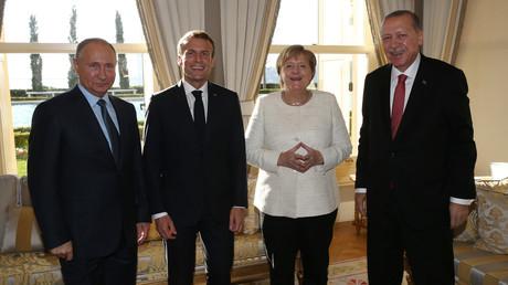 LIVE: Erdogan, Macron, Merkel und Putin geben Pressekonferenz nach Treffen zu Syrien