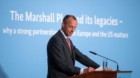 Hat Ambitionen auf den CDU-Vorsitz: Friedrich Merz (während einer gemeinsamen Veranstaltung der Atlantikbrücke und des American Council on Germany, 16. Mai 2017)