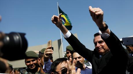 Jair Bolsonaro während einer Militärveranstaltung in São Paulo, Brasilien, 3. Mai 2018