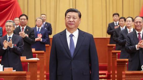 Chinas Präsident Xi Jinping auf dem 17. Gewerkschaftstag der chinesischen Gewerkschaften.