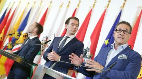 Kickl, Kurz und Strache im Juli in Wien