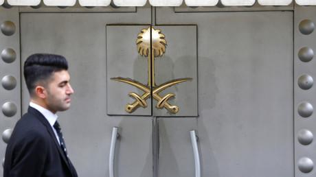 Sicherheitspersonal am Eingang des saudi-arabischen Konsulats in Istanbul, Türkei, 31. Oktober 2018.