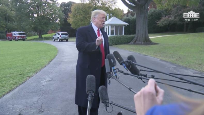 """Trump: """"Mich würde nicht überraschen, wenn George Soros die Migranten-Karawane finanziert"""""""