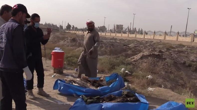 Massengrab mit über 1.500 Leichen in Rakka – Syrien beschuldigt Luftwaffen der Westkoalition