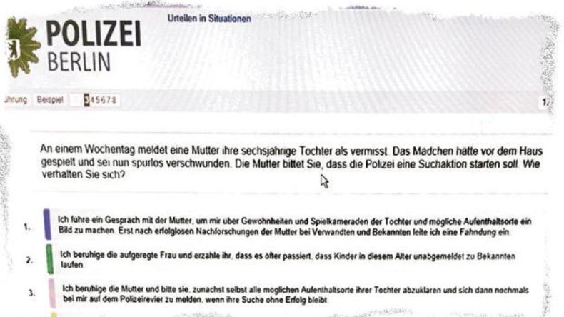 Berliner Polizeiakademie: Wird bei den Einstellungstests geschummelt?