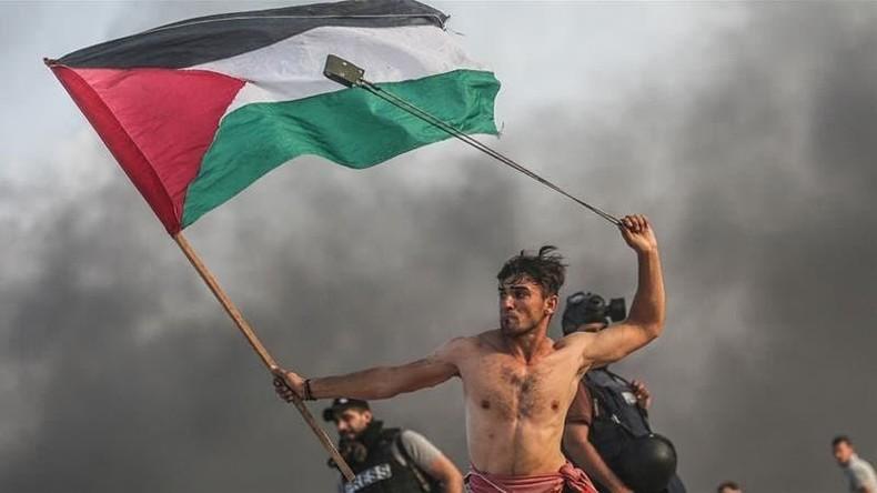 """Proteste in Gaza: Palästinensischer """"David"""" von israelischer Armee angeschossen"""