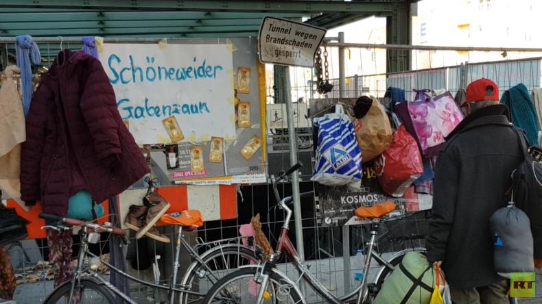 """Armut und Obdachlosigkeit in Berlin: Das Projekt """"Gabenzaun"""" (Video)"""