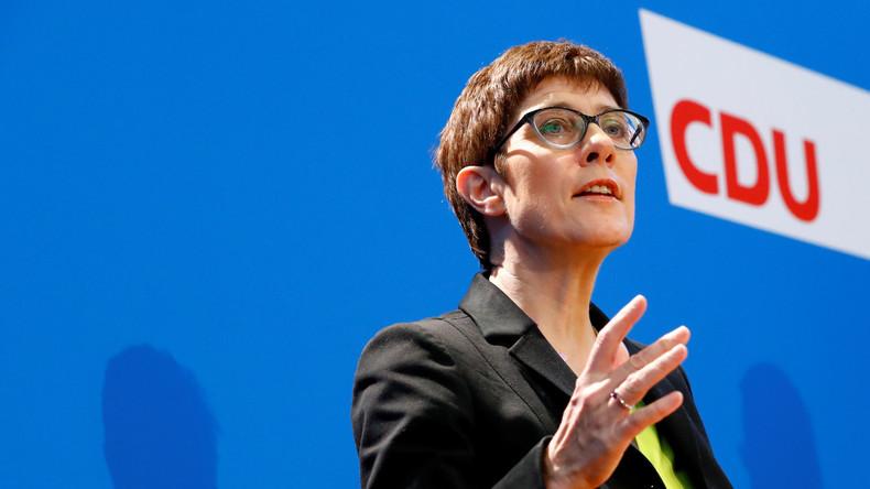 Annegret Kramp-Karrenbauer verkündet Kandidatur für CDU-Parteivorsitz (Video)