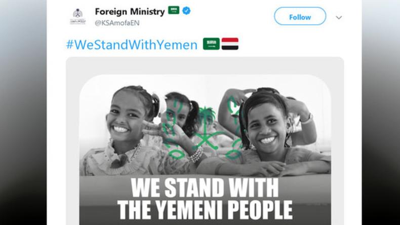 Ausgerechnet Saudi-Arabien: Staatliches Plakat sichert Jemeniten und deren Kindern Beistand zu