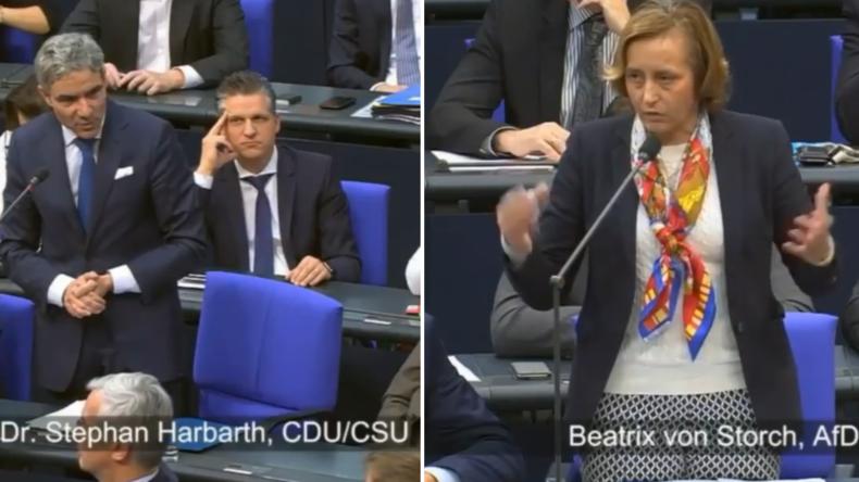 Unionspolitiker Harbarth und AfD-Frau von Storch liefern sich Schlagabtausch über Migrationspakt