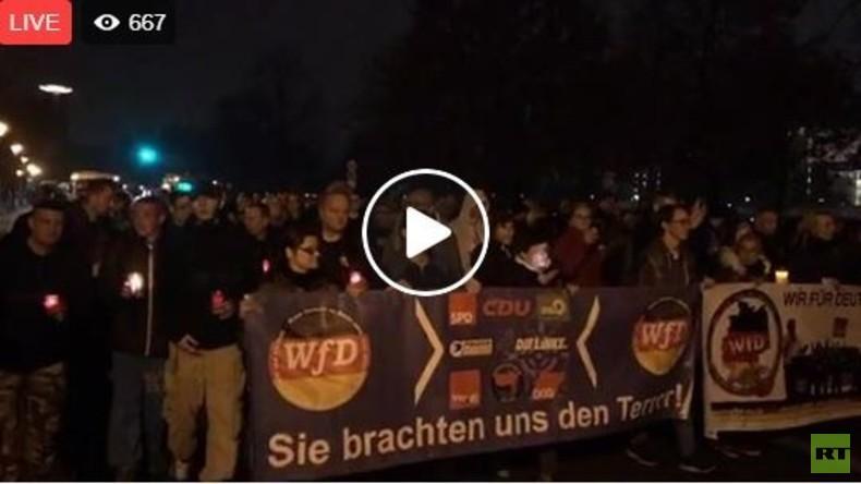 """RT Deutsch Live beim """"Trauermarsch"""" des Vereins """"Wir für Deutschland"""""""