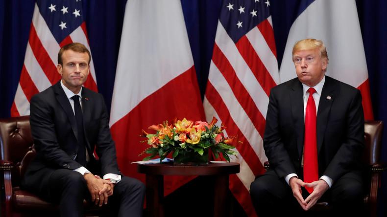 Donald Trump beginnt Besuch in Frankreich mit Angriffen gegen Emmanuel Macron