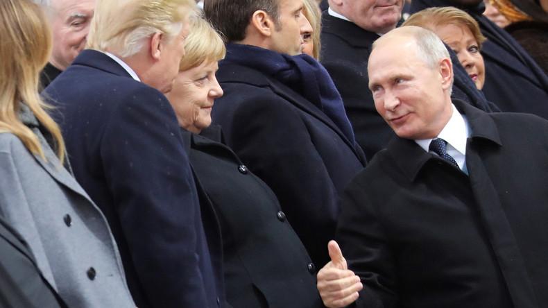 Weißes Haus zum Trump-Putin-Merkel-Macron-Treffen: Gutes Gespräch