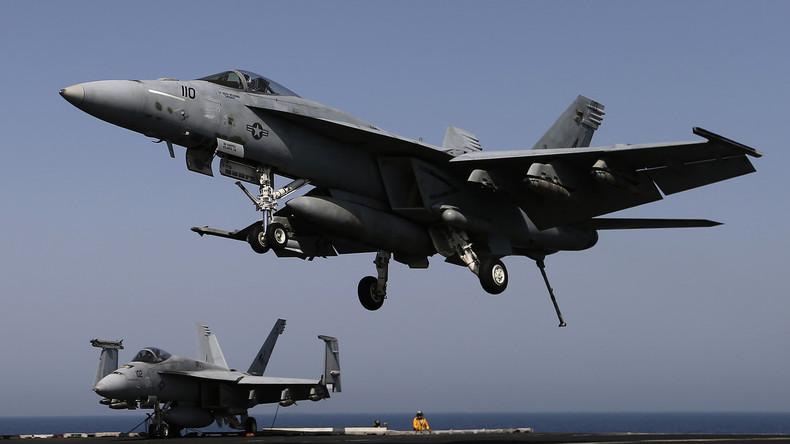 US-Kampfjet stürzt nach Start von Flugzeugträger im Philippinischen Meer ab
