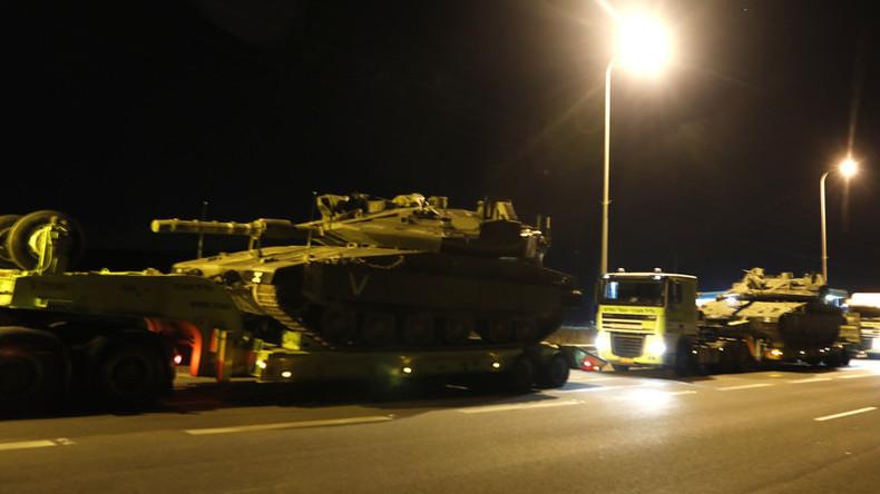 Bodenoffensive droht: Weitere israelische Bodentruppen und Panzer an Grenze zu Gaza verlegt