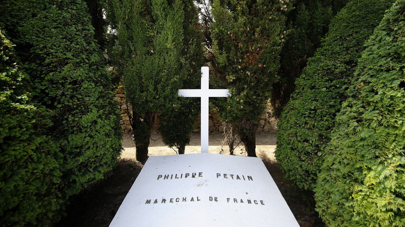 Grab des französischen Nazi-Kollaborateurs Pétain verunstaltet