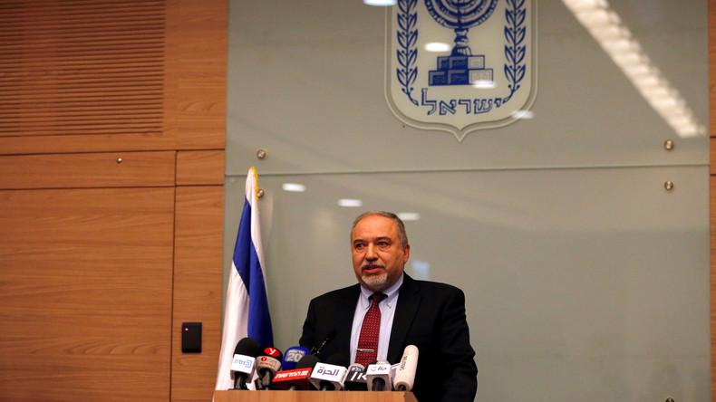 Israelischer Verteidigungsminister Lieberman tritt wegen Waffenstillstand im Gazastreifen zurück