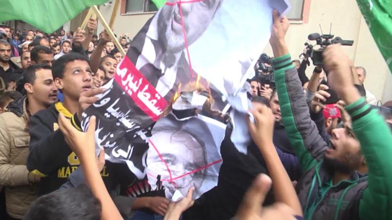 Gaza: Palästinenser und Hamas-Anhänger feiern Rücktritt von Israels Verteidigungsminister Lieberman