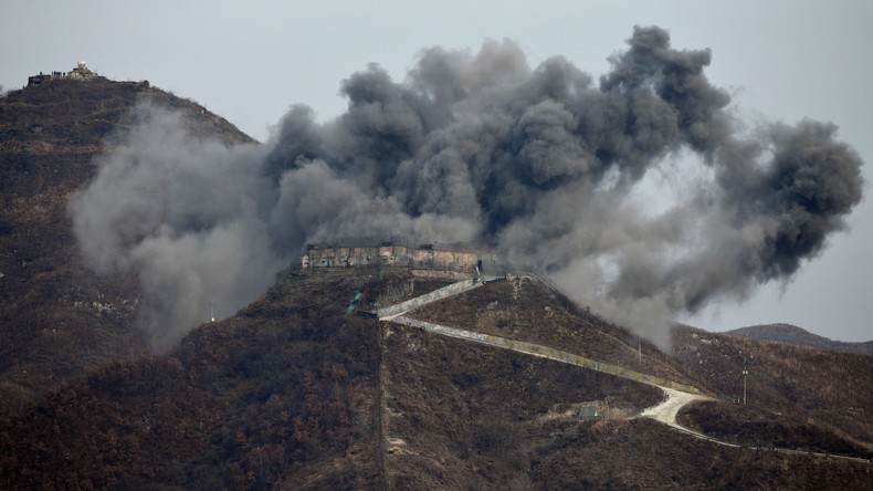 Südkorea sprengt Wachposten-Anlage im Grenzgebiet zu Nordkorea