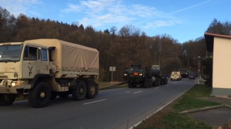 """""""Rotation"""" oder doch Einkreisung Russlands? Erneut zieht schweres US-Militär durch Sachsen"""