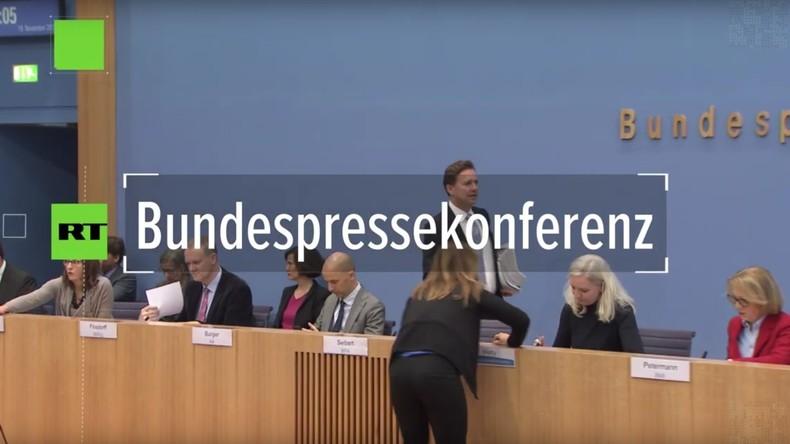 Bundespressekonferenz zu neuen Erkenntnissen im Khashoggi-Mord: Merkel-Sprecher im Kreuzfeuer